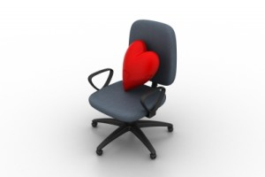 office chair with heart